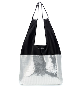 Paco Rabanne - Section Belted Shopper leather tote - mytheresa.com