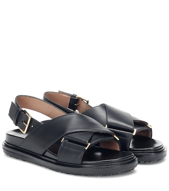 Marni - Fussbett leather sandals - mytheresa.com