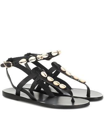 Ancient Greek Sandals - Exclusive to Mytheresa – Estia embellished leather sandals - mytheresa.com