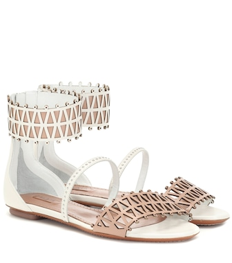 Alaïa - Studded leather sandals - mytheresa.com