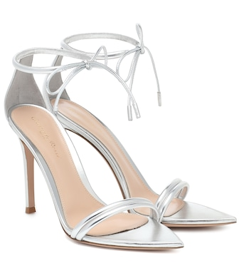 Gianvito Rossi - Montecarlo 105 patent-leather sandals - mytheresa.com