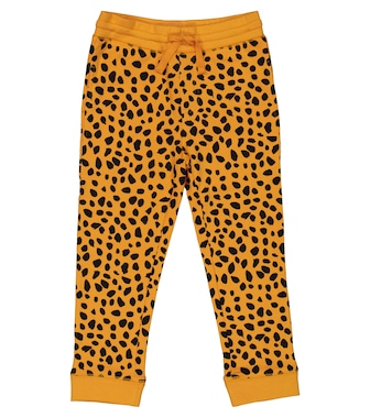 Stella McCartney Kids - Cheetah-print cotton trackpants - mytheresa.com