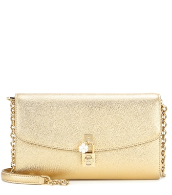 Dolce & Gabbana - Dolce Pochette metallic leather shoulder bag - mytheresa.com