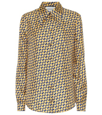 Gucci - Printed silk shirt - mytheresa.com