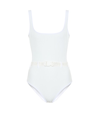 Off-White - Belted swimsuit - mytheresa.com