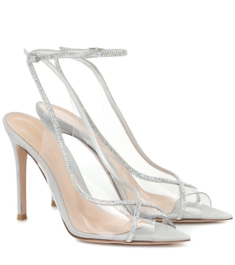 Gianvito Rossi - Crystelle embellished PVC sandals - mytheresa.com