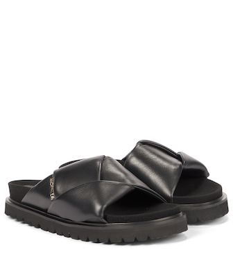 Moncler - Fantine leather slides - mytheresa.com