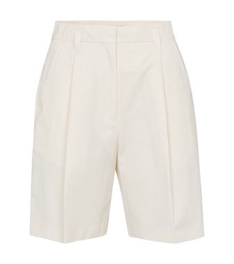 Low classic - High-rise cotton-blend shorts - mytheresa.com