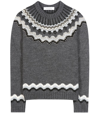 Valentino - Embellished wool and alpaca-blend sweater - mytheresa.com