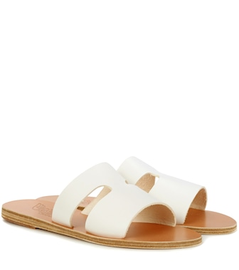 Ancient Greek Sandals - Apteros leather slides - mytheresa.com