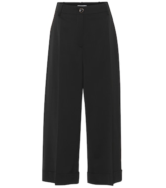 Valentino - Wide-leg wool pants - mytheresa.com