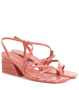 Mercedes Castillo - Kelise croc-effect leather sandals - mytheresa.com