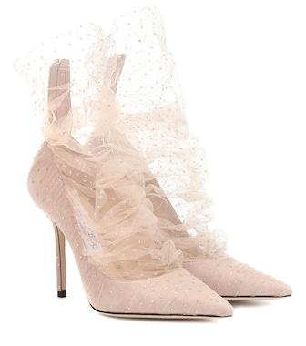 Jimmy Choo - Lavish 100 tulle pumps - mytheresa.com