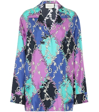 Gucci - Printed silk-twill shirt - mytheresa.com