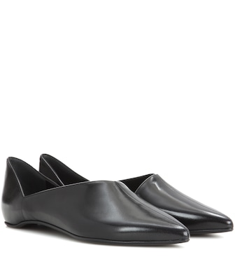 Pierre Hardy - Mirage leather ballerinas - mytheresa.com