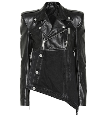 Unravel - Leather and denim jacket - mytheresa.com