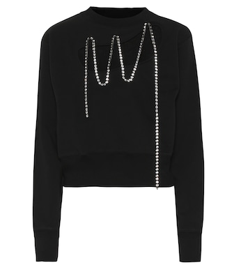 Christopher Kane - Embellished cotton sweater - mytheresa.com