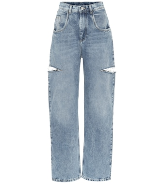 Maison Margiela - Cut-out high-rise wide-leg jeans - mytheresa.com