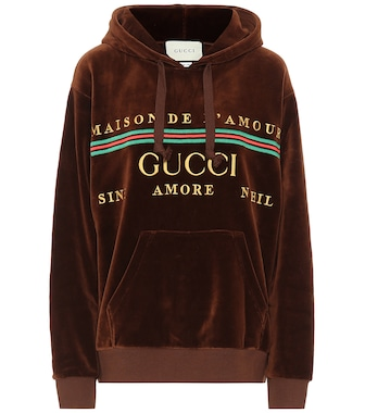 Gucci - Logo cotton-blend chenille hoodie - mytheresa.com