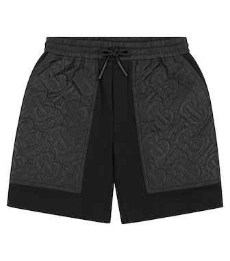 Burberry Kids - Monogram quilted cotton shorts - mytheresa.com