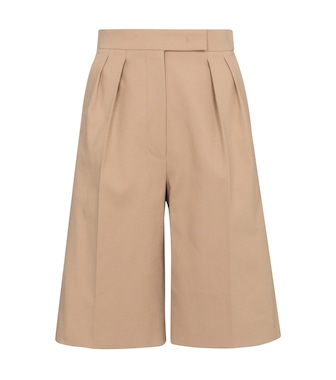 Max Mara - Ottuso stretch-cotton Bermuda shorts - mytheresa.com