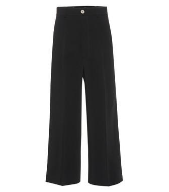 Gucci - Stretch crêpe wide-leg pants - mytheresa.com