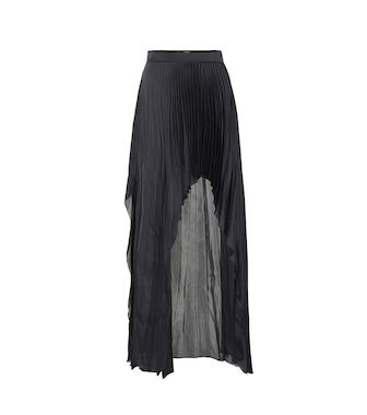 Stella McCartney - Pleated satin skirt - mytheresa.com