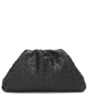 Bottega Veneta - The Pouch intrecciato leather clutch - mytheresa.com
