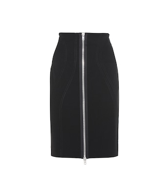 Givenchy - Stretch-crêpe pencil skirt - mytheresa.com