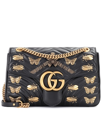 Gucci - GG Marmont leather shoulder bag - mytheresa.com