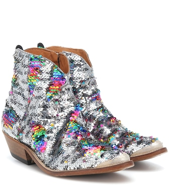 Golden Goose - Sequined cowboy boots - mytheresa.com