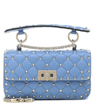 Valentino - Valentino Garavani Rockstud Spike Small leather shoulder bag - mytheresa.com