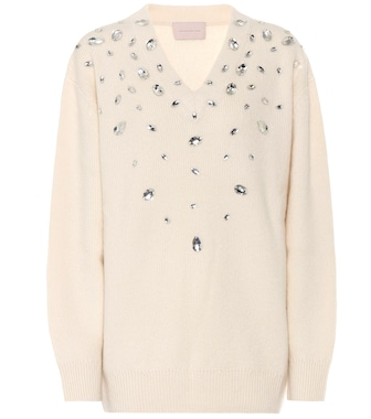 Christopher Kane - Embellished cashmere-blend sweater - mytheresa.com