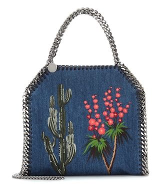 Stella McCartney - Sac cross-body en denim brodé Falabella Mini - mytheresa.com