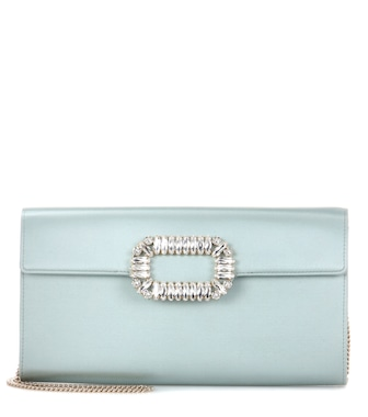 Roger Vivier - Evening Envelope satin shoulder bag - mytheresa.com