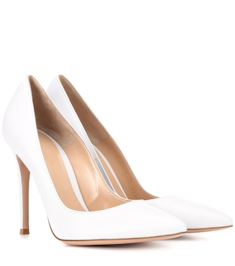 Gianvito Rossi - Gianvito 105 leather pumps - mytheresa.com