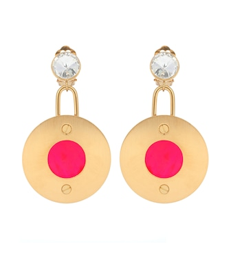 Marni - Crystal-embellished clip-on earrings - mytheresa.com