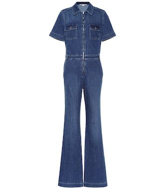 Stella McCartney - Stretch denim jumpsuit - mytheresa.com
