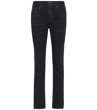 Saint Laurent - High-rise slim cropped jeans - mytheresa.com