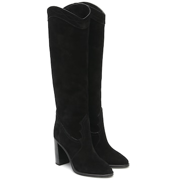 Saint Laurent - Kate 90 suede knee-high boots - mytheresa.com