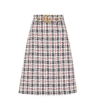Gucci - Plaid cotton-blend tweed skirt - mytheresa.com