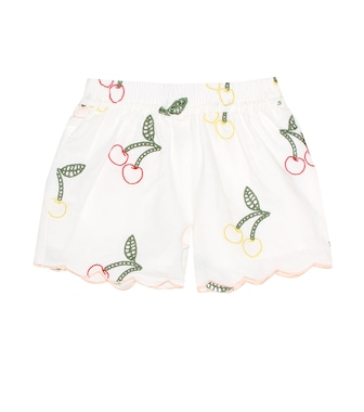 Stella McCartney Kids - Embroidered linen and cotton shorts - mytheresa.com