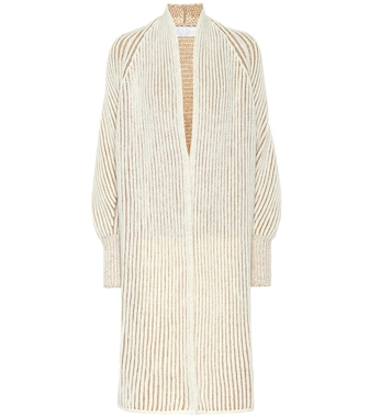 Chloé - Ribbed wool-blend cardigan - mytheresa.com
