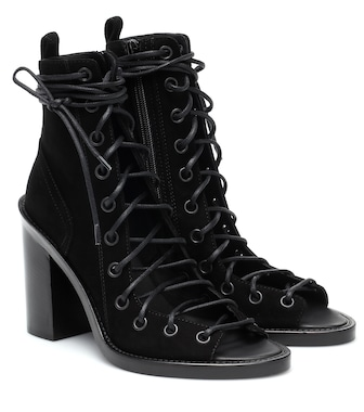Ann Demeulemeester - Suede lace-up ankle boots - mytheresa.com