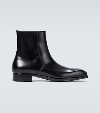 Tom Ford - Elkan leather boots - mytheresa.com