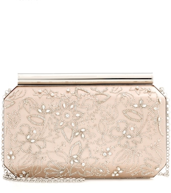 Oscar de la Renta - Beaded satin clutch - mytheresa.com