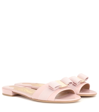 Salvatore Ferragamo - Gil leather sandals - mytheresa.com