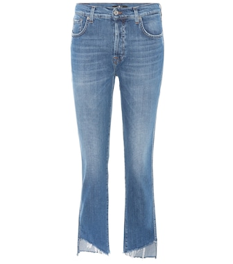 7 For All Mankind - High-Rise Cropped Jeans Edie - mytheresa.com