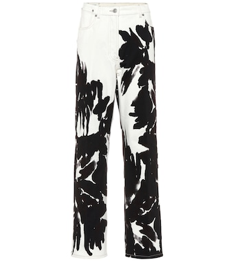 Dries Van Noten - Printed high-rise straight jeans - mytheresa.com