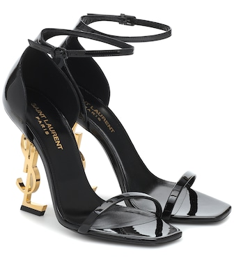 Saint Laurent - Opyum 110 patent leather sandals - mytheresa.com